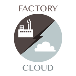 factory vs cloud icon