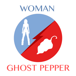 woman vs ghost pepper icon
