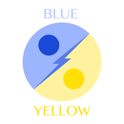 blue-yellow