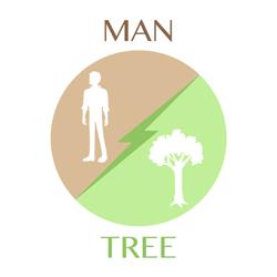 man-tree